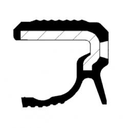 Uszczelniacz wału korbowego tył CORTECO 19036599B